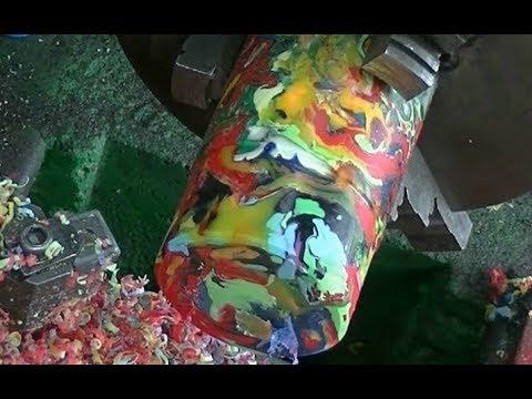 Как плавить цветной пластик Плавим детские игрушки