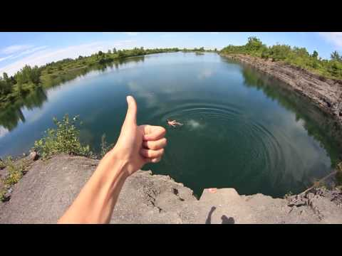 Cliffjump Boucherville for fun!