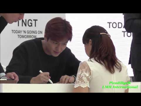 Lee Min Ho TNGT Fans Sign 20150914