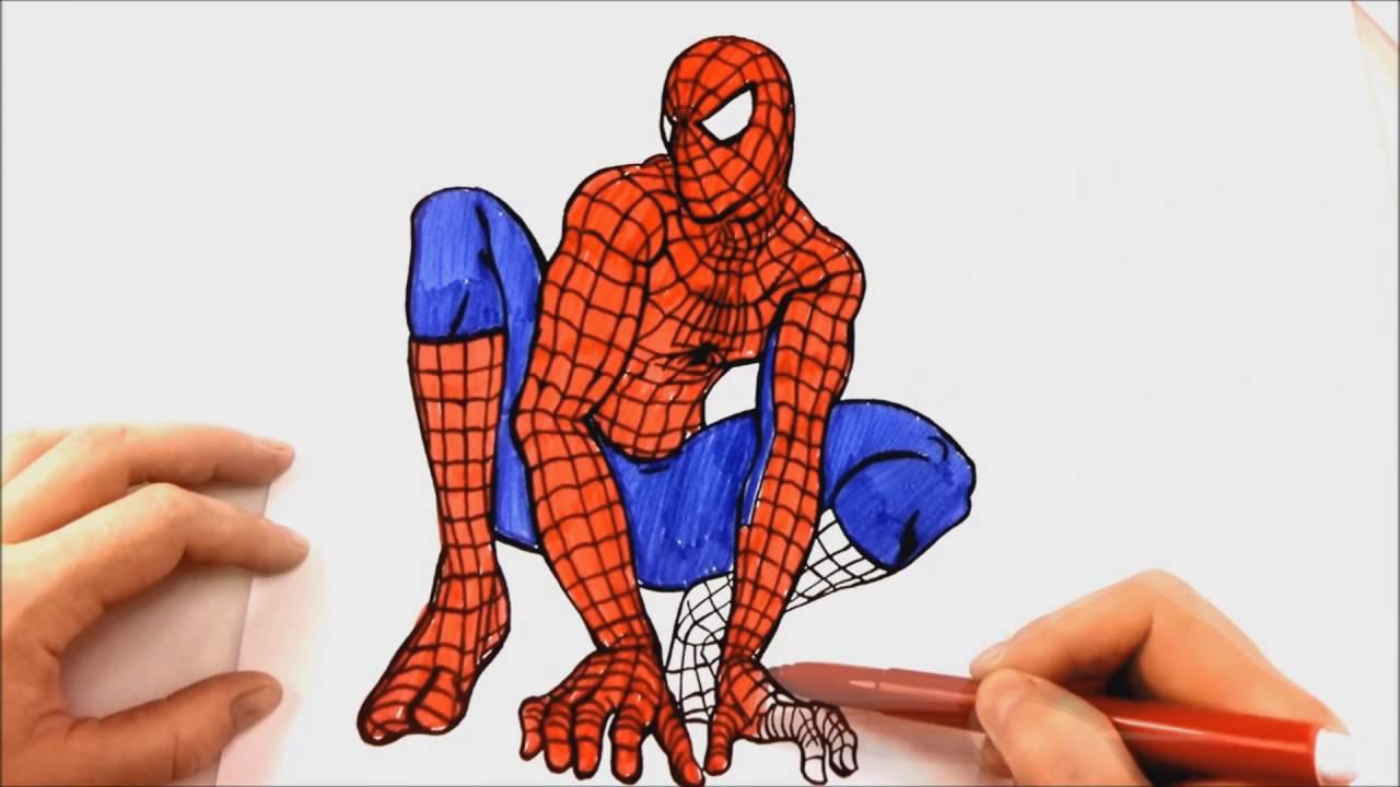 ЧЕЛОВЕК ПАУК Спайдермен Spiderman раскраска - YouTube