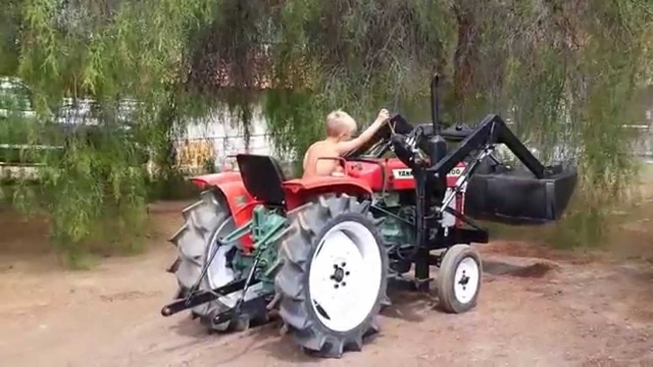 Antique Yanmar Tractors : Yanmar ym even a year old can drive this tractor