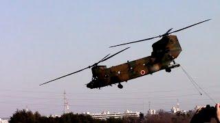 チヌーク(CH-47JA)からリベリング.