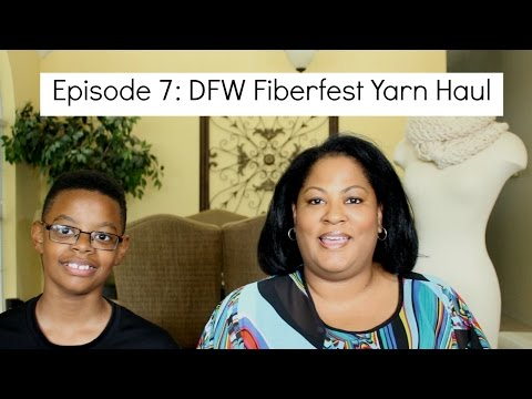Happee Knits Episode 7 - DFW Fiberfest Haul and 1k Subcriber Giveaway (Closed)