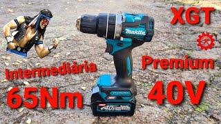 Intermediaria PREMIUM - Parafusadeira Makita 40V HP002G XGT Brushless Furadeira DRILL