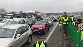 Blocages routiers au péage de Villefranche, 17 novembre 2018