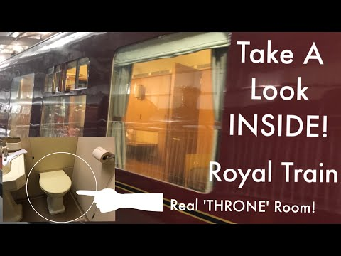 INSIDE King GEORGE Vl Saloon Carriage - Also Used By Prince Philip