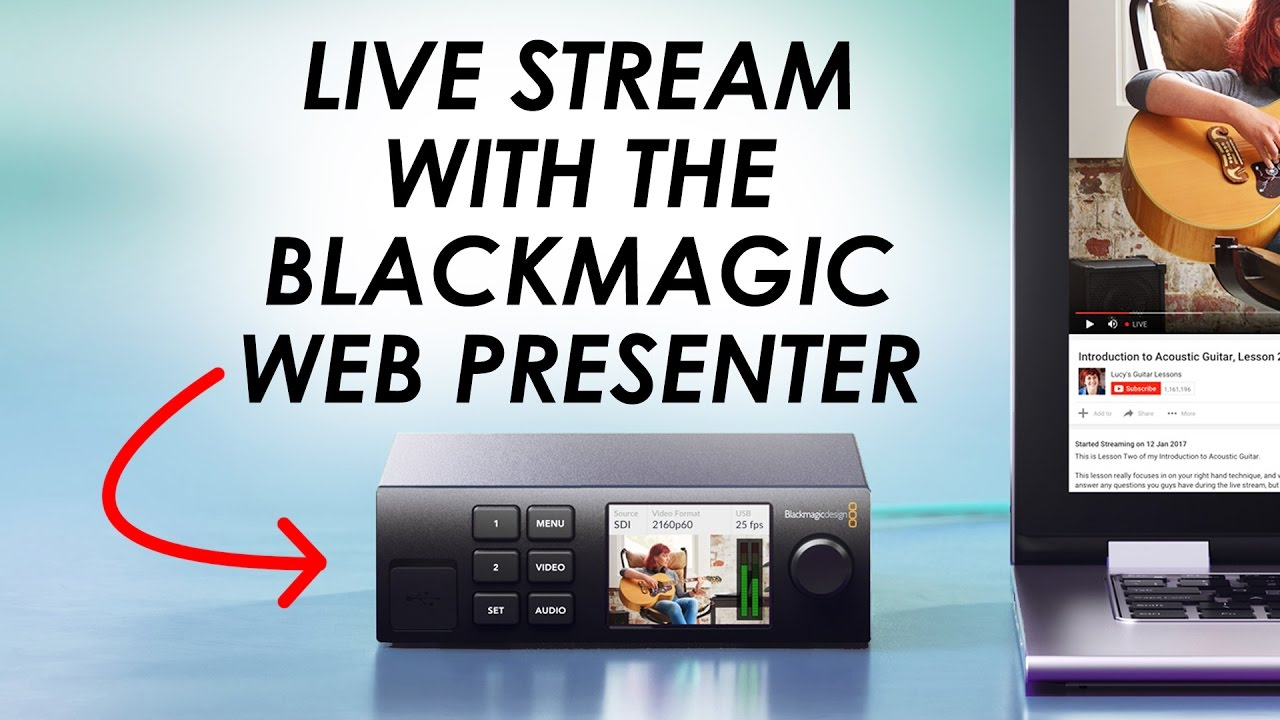 Facebook Live with a DSLR? — Blackmagic Web Presenter for Live Streaming