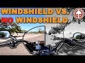 Motorcycle Windshield vs NO Windshield