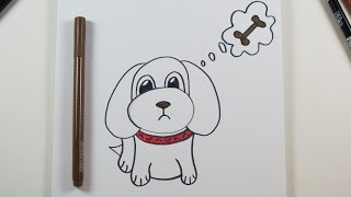 drawing puppy drawings diy easy paintingvalley