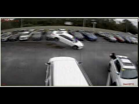 The Love Doctors - Car Jumps Several Cars At Dealership In Florida!