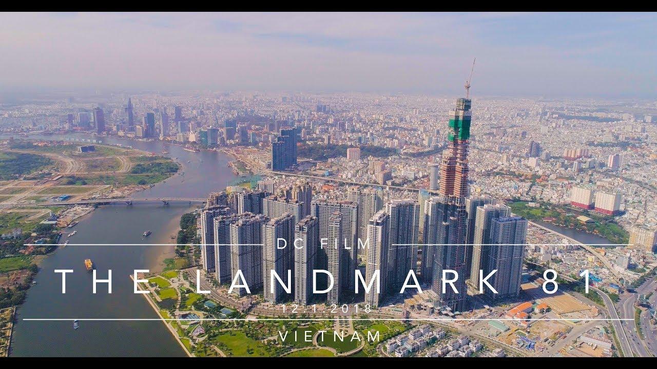 The Landmark 81 - Cập nhật 12.01.2018 /  Toà nhà cao nhất Việt Nam nhìn từ độ cao 500m [ 4k ]