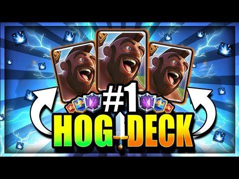 #1 BEST HOG LADDER DECK!! SUPER CYCLE is BACK!! Clash Royale Hog Rider Deck Arena 12