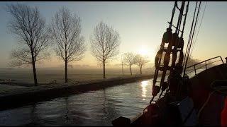 Balder 1 - Zeillogger de Balder van Delft naar Vlaardingen / 23-01-2015