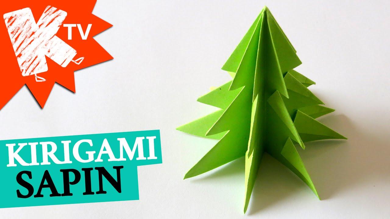 Sapin De Noel En Papier Kirigami Origami Facile Youtube