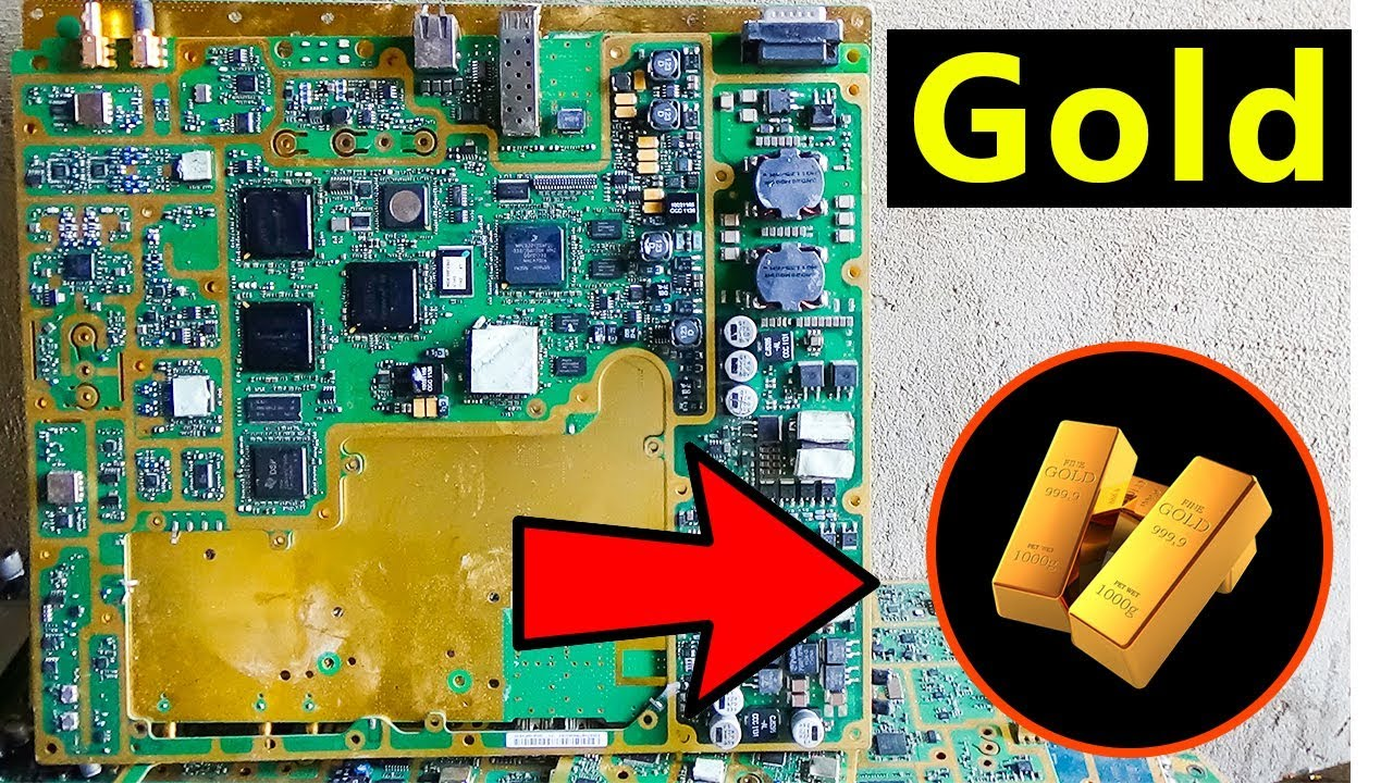 E Waste Recycling For Gold Recovery Telecommunication Boards Plated Circuit Board