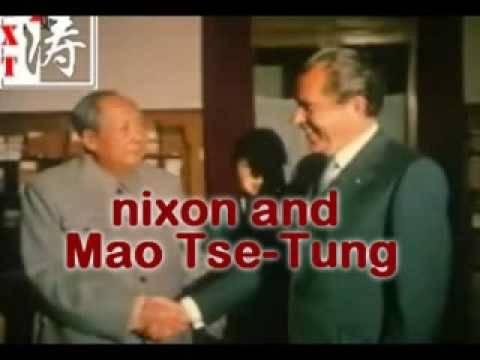 NIXON BOWS TO CHAIRMAN MAO TSE-TUNG, COMMUNIST LEADER
