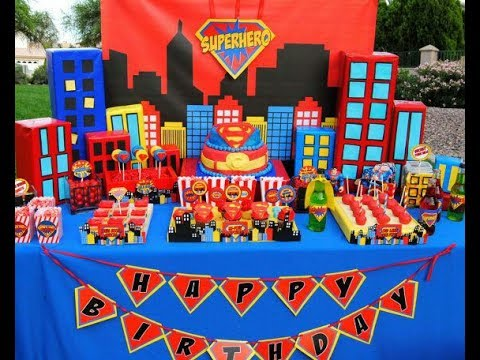 Fiesta de superman 2017 fiestas infantiles mesa de dulces for Decoracion pared infantil
