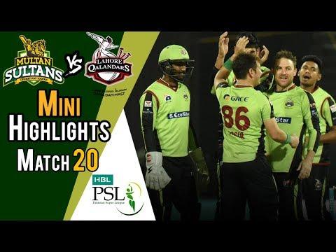 Short Highlights | Lahore Qalandars Vs Multan Sultans  | Match 20 | 9 March | HBL PSL 2018