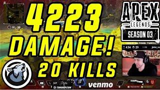 "VISS ""4223"" DAMAGE ""20"" KILLS! APEX LEGENDS SEASON 3"