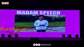 Rashmika Mandanna Speech Special AV @ Geetha Govindam Success Celebrations Live || Vijay Devarakonda