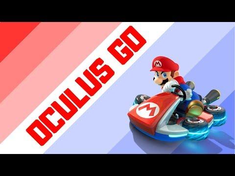 Playing Mario Kart 8 through Oculus Go VR Headset - YouTube