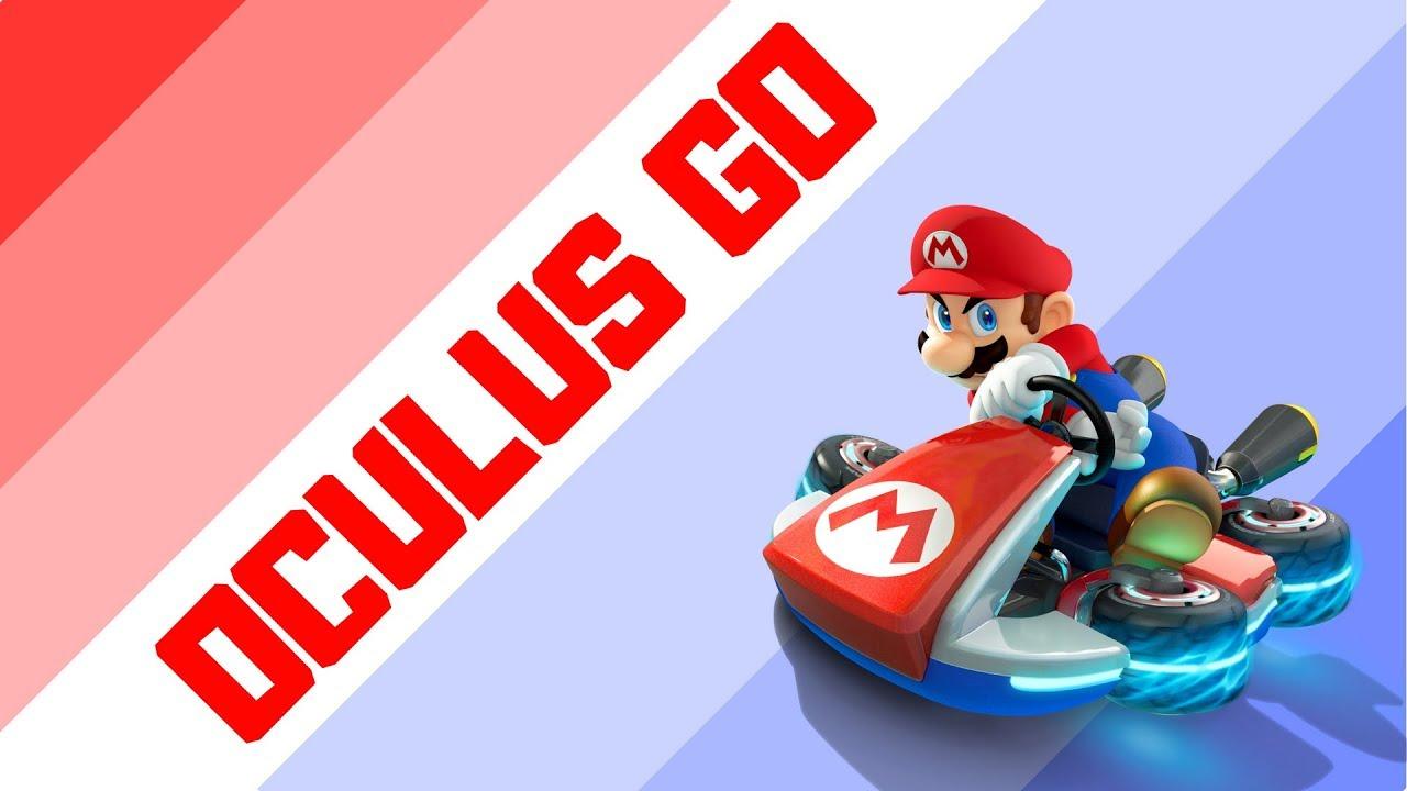 Playing Mario Kart 8 through Oculus Go VR Headset