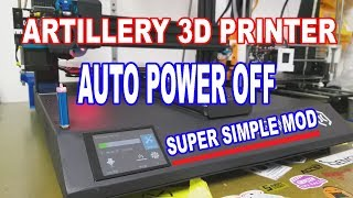 Artillery SideWinder X1 3D Printer  - SUPER SIMPLE AUTO POWER OFF MOD