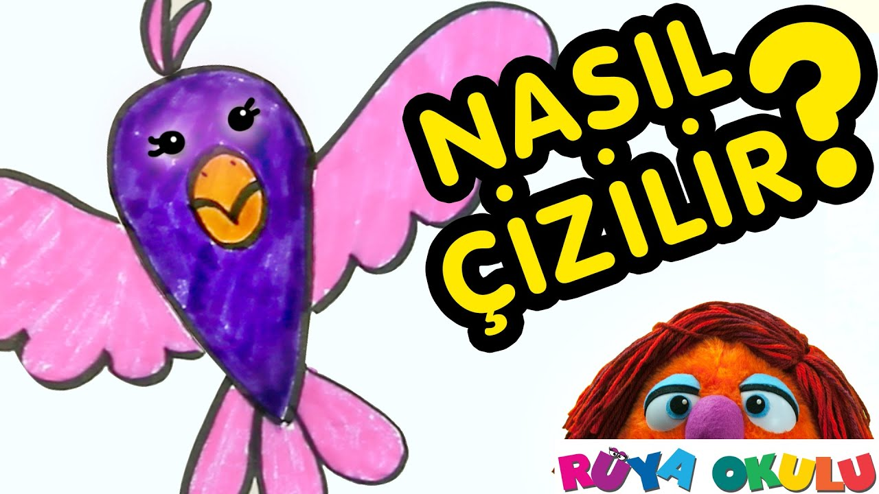 Nasıl çizilir Kuş çocuklar Için Resim çizme Rüya Okulu Youtube