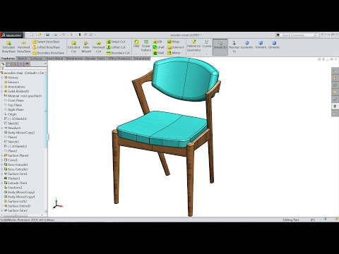 Solidworks tutorial | sketch Z type chair in Solidworks | So