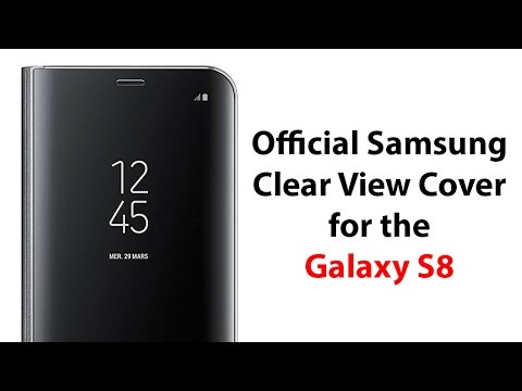 new concept 67741 ae3bb Official Samsung Clear View Cover for the Galaxy S8 - YouTube Tech Guy