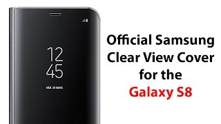 Official Samsung Clear View Cover for the Galaxy S8 - YouTube Tech Guy