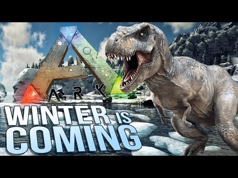 Ark Survival Evolved - Winter is Coming in Ark! - Snow Biome & T-rex Issues - Let's Play Ark