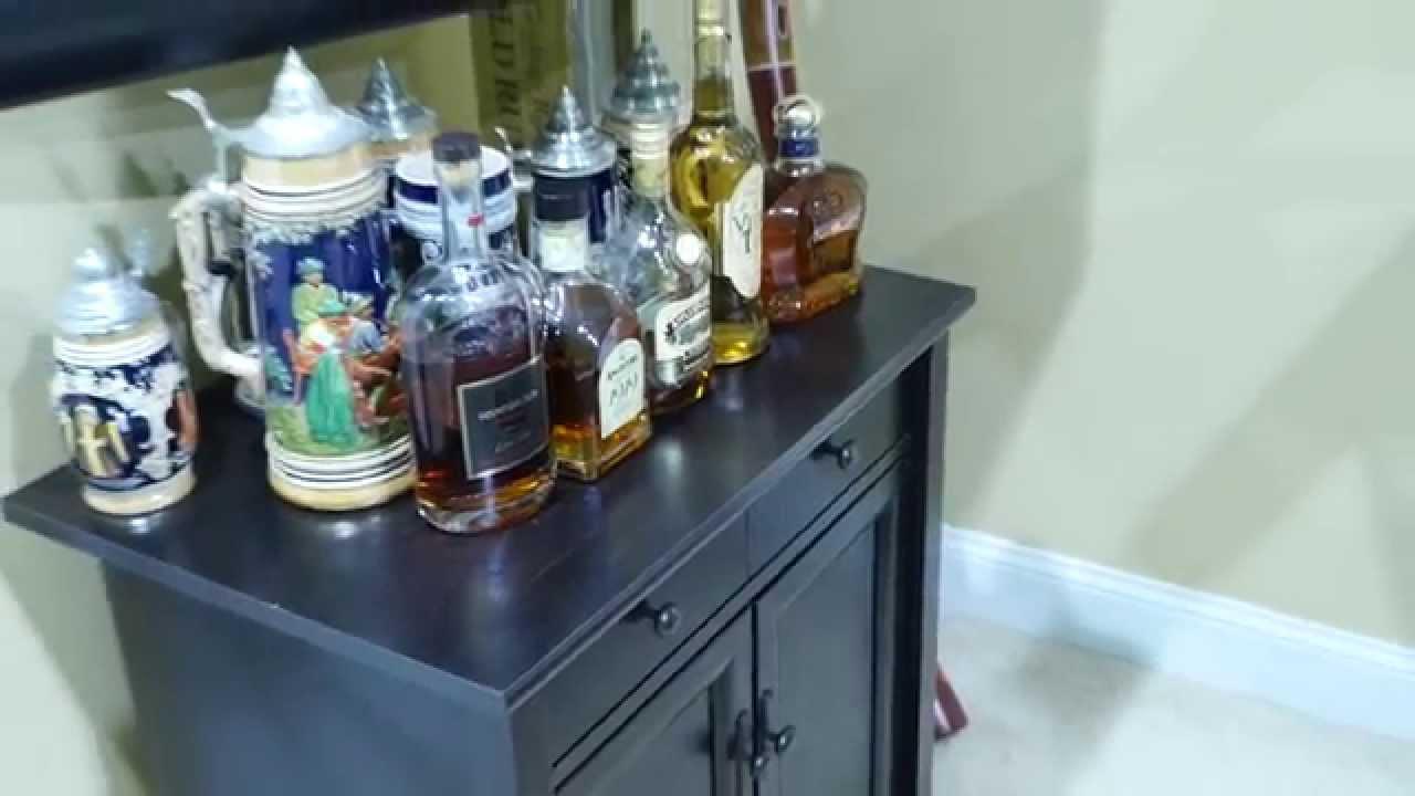 Sauder Edge Water Cabinet Review in 4K UltraHD - YouTube