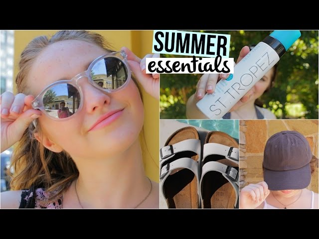 Summer Essentials 2015 | Fashion, Pool & Random | Kenzie Elizabeth