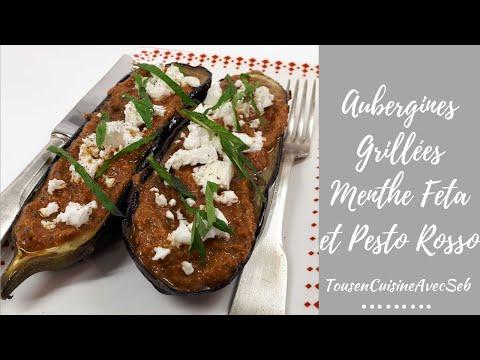 aubergines-grillÉes-menthe-feta-et-pesto-rosso-(tousencuisineavecseb)