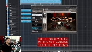Misha Mansoor: Full Drum Mix with stock Cubase plug-ins