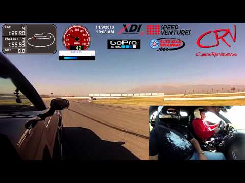 Corvette ZR1 on track at Speed Ventures at Auto Club Speedway