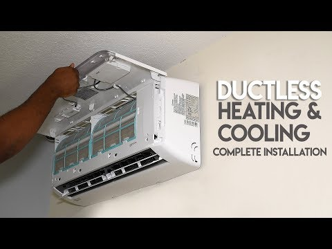 How To install Ductless AC & Heating System // True DIY Mini Split MRCOOL