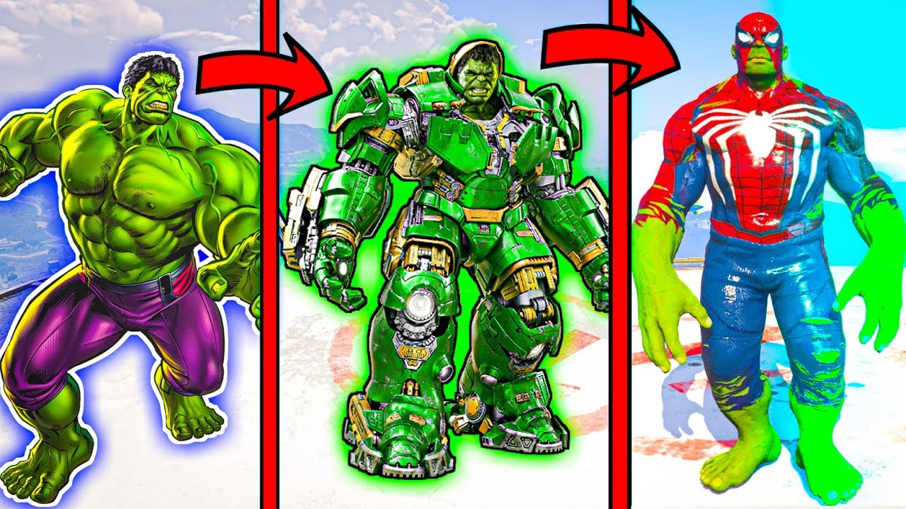 Hulk and Spider Man Upgraded into SpiderHulk [Hindi]   GTA5 AVENGERS   A.K GAME WORLD