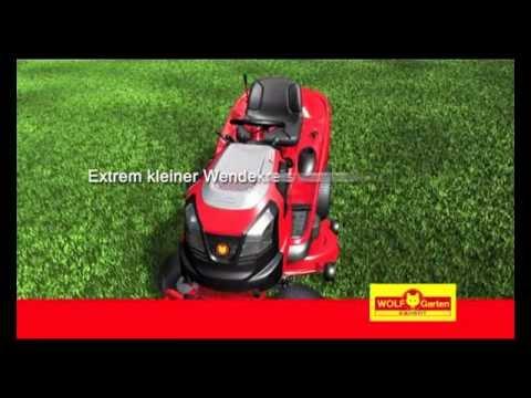 wolf garten rasentraktor aufsitzm her traktor youtube. Black Bedroom Furniture Sets. Home Design Ideas
