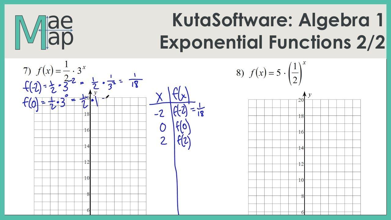 KutaSoftware: Algebra 1- Exponential Functions Part 2