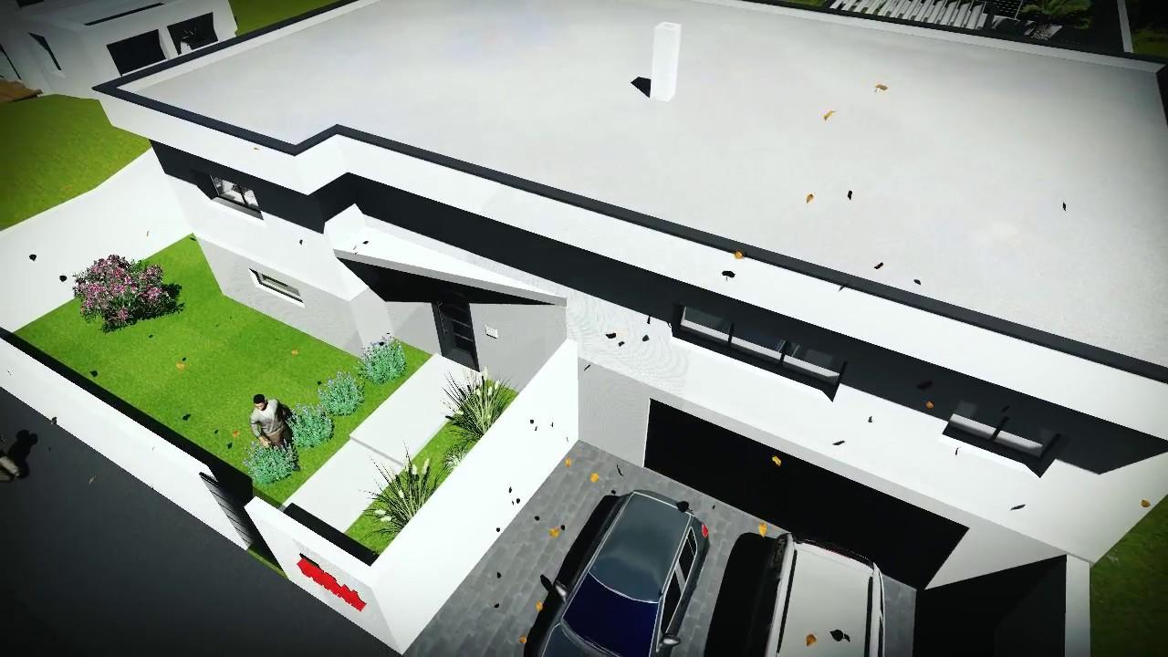visite d une construction maison toit plat 1 youtube. Black Bedroom Furniture Sets. Home Design Ideas