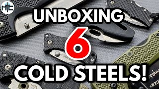 Unboxing SIX Cold Steel Knives!