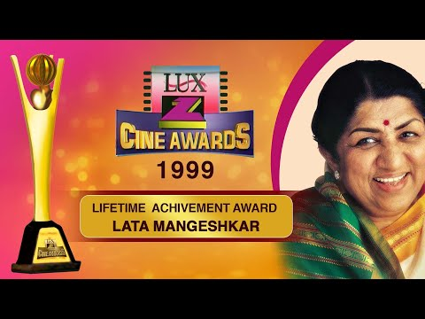 LATA MANGESHKAR   LifeTime Achievement Award 1999   ZEE CINE AWARDS    #ZCA1999