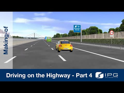 Making-of: CarMaker – Driving on the highway – Part 4/4