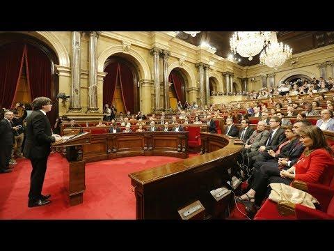 La compareixença de Carles Puigdemont al Parlament