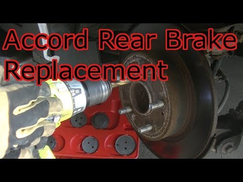 2011 Honda Accord Rear Brake and Rotor Replacement