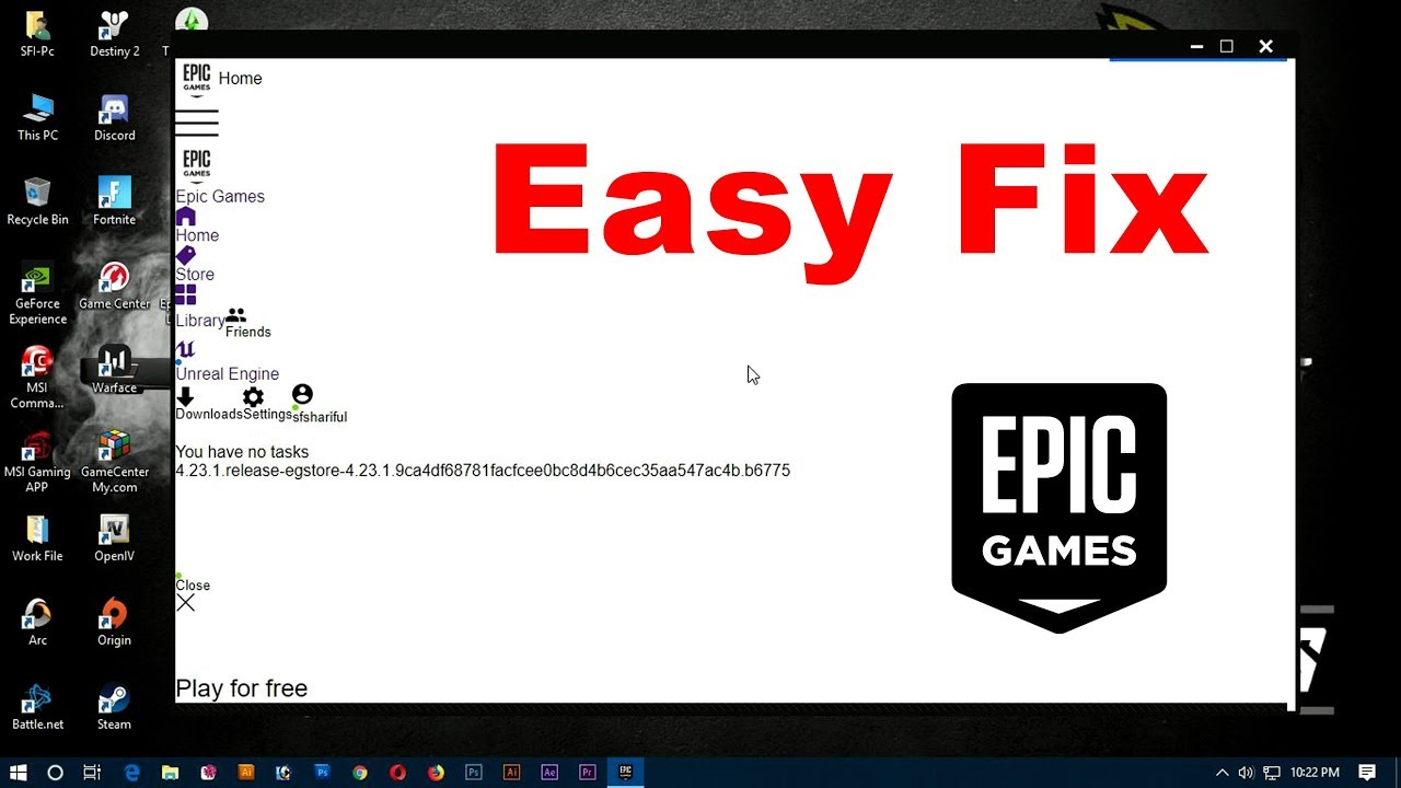 How to Fix - Epic Games Launcher White Screen Bug - YouTube