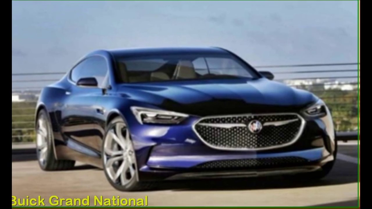 2017 Buick Grand National >> 2018 Buick Grand National GNX Exterior Concept - YouTube