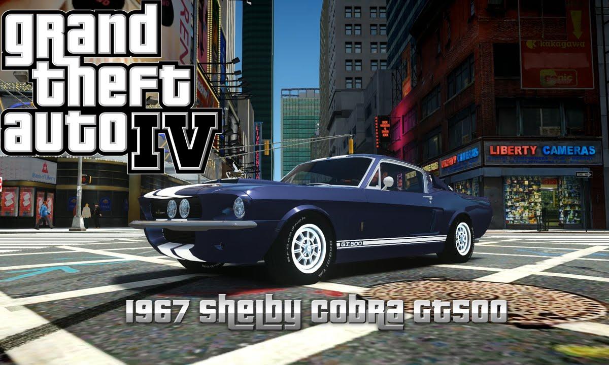 GTA IV 1967 Shelby Cobra GT500-Car Mod - YouTube
